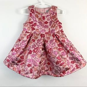The Children's Place Pink Floral Embroidered Dress